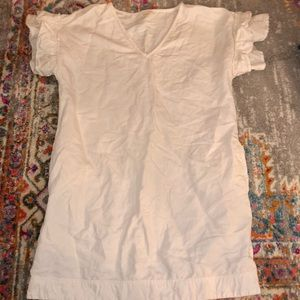White Anthropologie Dress W/pockets